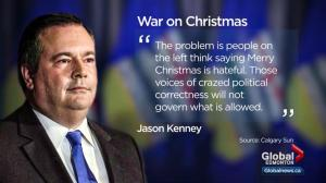 Jason Kenney faces questions after suggesting the left is making Christmas a taboo