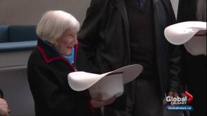 Former French Jewish WWII spy Marthe Cohn, 98, presented with White Hat in Calgary