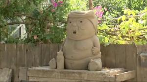 Baby Trump sand sculpture getting a lot of attention in B.C.