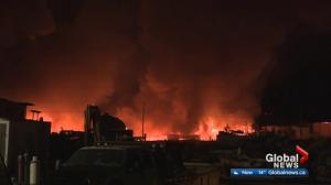 Fire rips through Nisku recycling facility