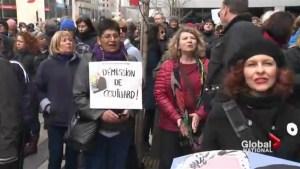 Protesters decry Bombardier exec bonuses