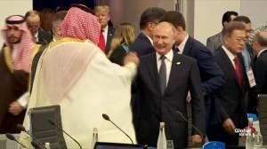 Vladimir Putin, Mohammad bin Salman warmly greet one another at G20