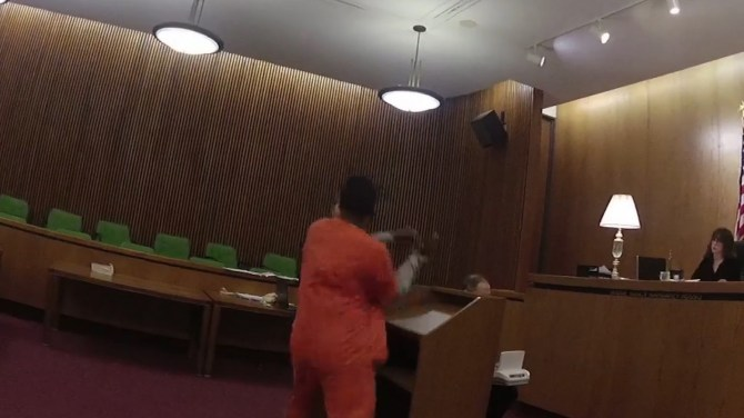 Man sucker-punches lawyer in the face after being sentenced to more than 40 years in prison