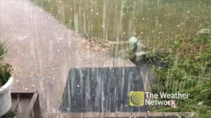Golfball-size hail hits Ottawa neighbourhood as storm, tornado rolls through
