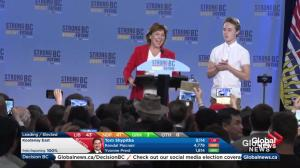 BC Election: Christy Clark says 'some things only happen in B.C.'