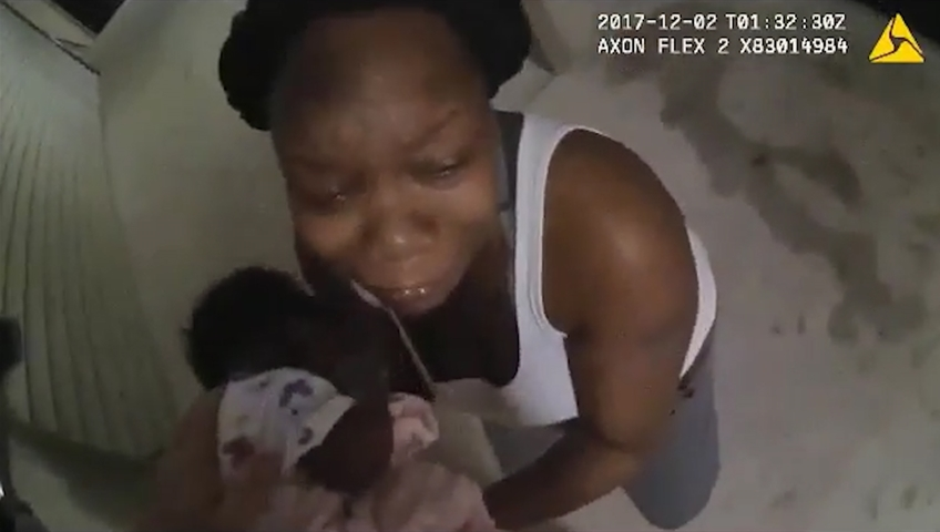 Bodycam shows officer saving life of newborn baby