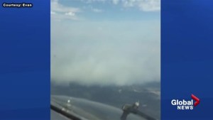 Pilot catches Fort McMurray fires from the air