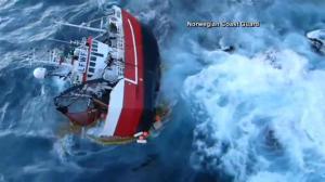 5 fishermen saved after trawler capsizes off Norwegian coast