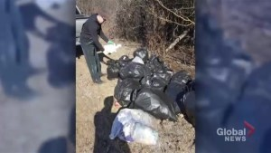 Garbage dumped illegally returned to rightful owner