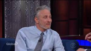 Jon Stewart defends Stephen Colbert's 'potty mouth' on Late Show