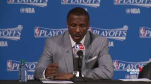 Dwane Casey discusses the development of Jonas Valanciunas