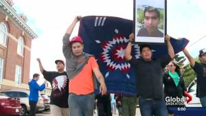 Gerald Stanley pleads not guilty as hundreds rally for Colten Boushie in North Battleford, Sask.