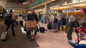 Ice storm causes delays at Calgary International Airport