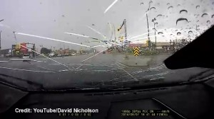 Airdrie hail storm smashes car's windshield