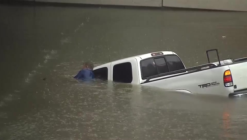 Elderly rescued from rising waters inside Texas nursing home
