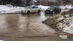 Water main break on Sinclair Avenue