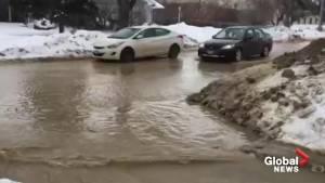 Water main break on Sinclair Avenue