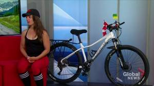 Woman biking across Canada calls for more mental health resources