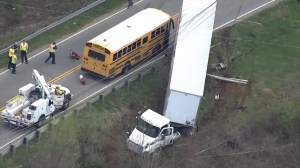 Dramatic video captures collision between school bus and tractor-trailer in South Carolina