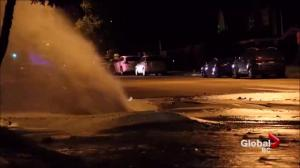 Water main bursts in East Vancouver