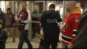 Memorial Centre security measures