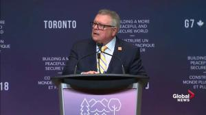 Goodale comments on van incident in Toronto after pedestrians struck, killed