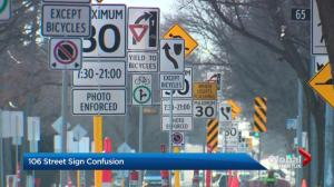 Edmonton road renewal leads to lots of street signs