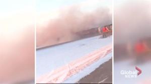 CN train derailment north of Saskatoon
