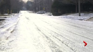 Icy road conditions in Beaconsfield