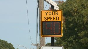 Pickering speed board slows down drivers