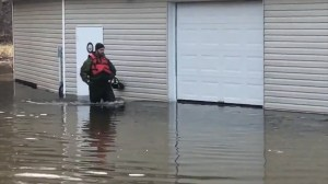 Military checks on flood-impacted residents along New Brunswick's Saint John River