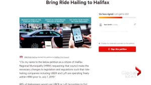 Advocacy group calls for ride-hailing companies by Canada Day
