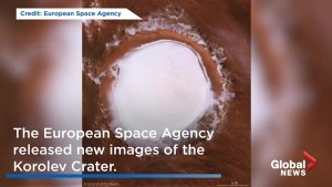 82-kilometre long ice crater on Mars never melts