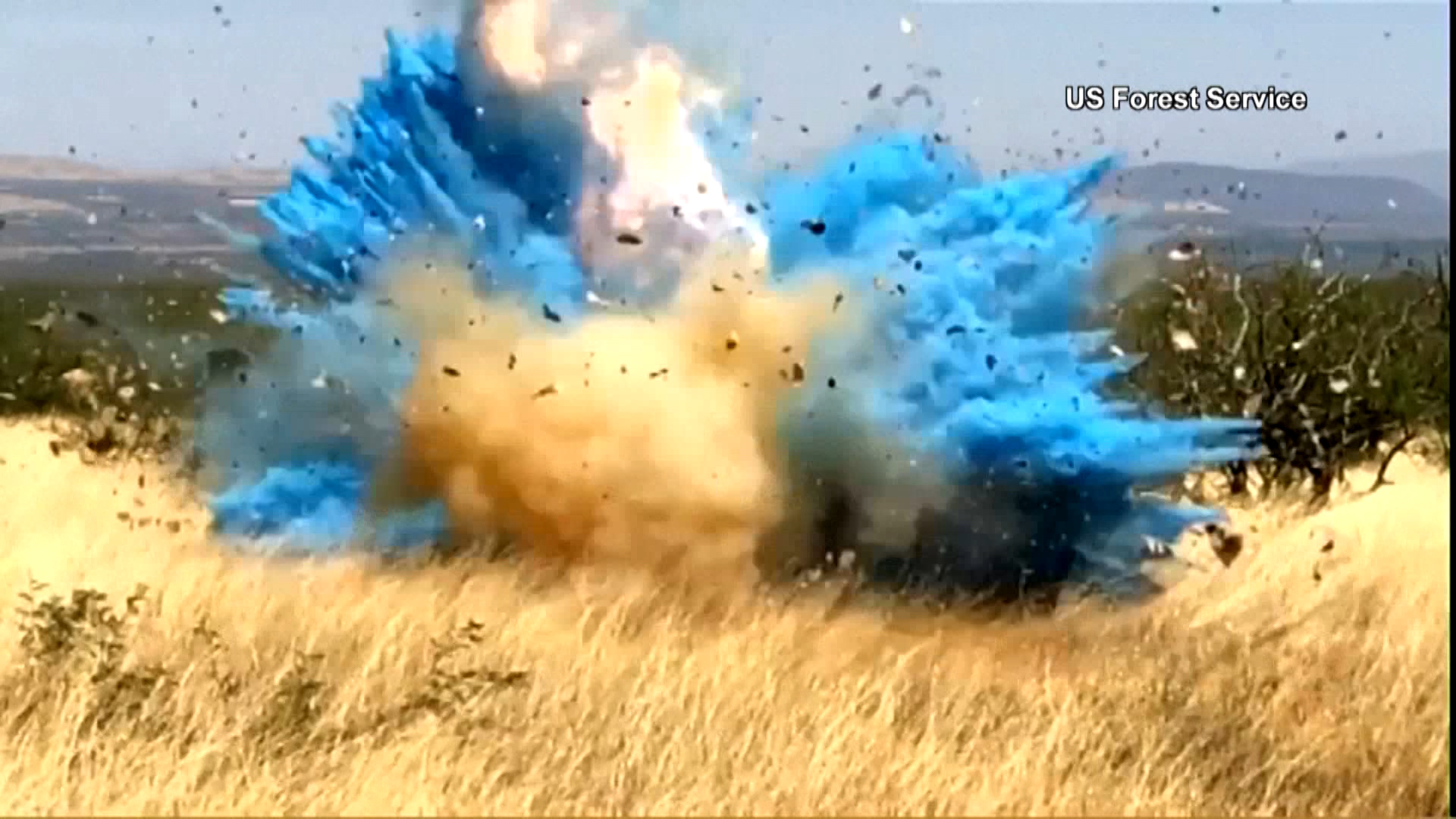 Forest Service releases video of gender reveal explosion that caused wildfire