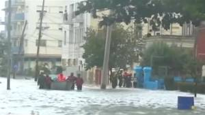 Cuban emergency crews rescue residents from neighbourhoods flooded by Hurricane Irma