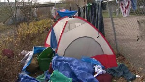 Moncton residents concerned over garbage, tents at former Moncton High