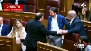 Jailed Catalan leaders sit in Spanish parliament