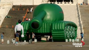 Balloon 'Tank Man' commemorates Tiananmen Square crackdown