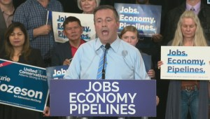 Jason Kenney takes direct aim at Vancouver's Mayor during campaign rally