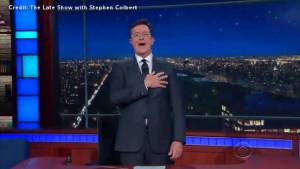 Stephen Colbert releases new version of 'O Canada' titled 'Our Prime Minister Is Hot'