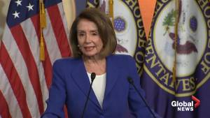 Nancy Pelosi: No wall money in U.S. border deal talks (01:02)