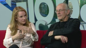 Lea Thompson and Christopher Lloyd