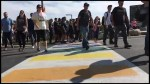 Fleming College unveils rainbow crosswalk