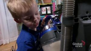 A Regina two-year-old has an unusual fascination with vacuums