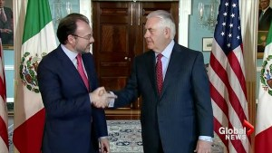 Tillerson thanks Mexico for help with Hurricane Harvey