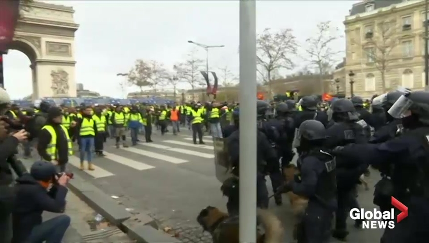 Over 1,700 arrested in latest 'yellow vest' protests in France
