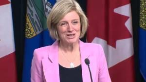 Alberta Premier Rachel Notley announces she's suspending retaliatory measures taken against B.C. over Trans Mountain pipeline dispute