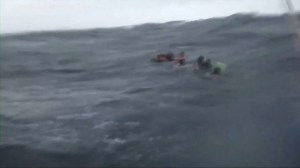 Video shows moment survivors of capsized boat in Thailand were rescued