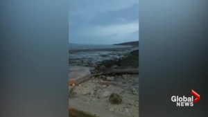 Ocean floor off Bahamas exposed as Hurricane Irma sucks up water