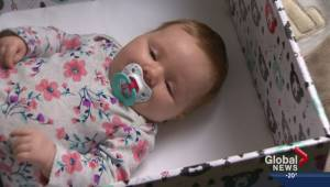 Researchers hope Finnish Baby Boxes will help Alberta kids catch up